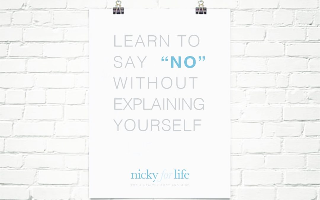 Self care: saying no