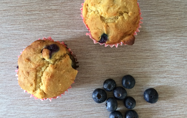 Orange & blueberry muffins